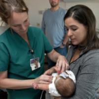 قلب تک بطنی در نوزادان
