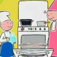 آموزش کیک میوه خورشیدی (کارتون کودک)